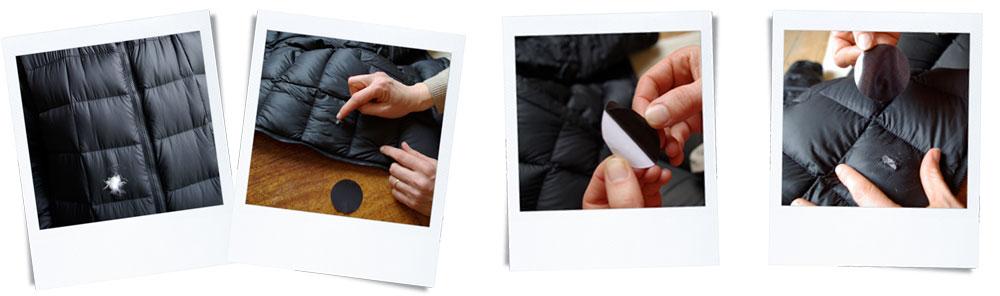 loch in steppjacke reparieren europ ische kollektion von. Black Bedroom Furniture Sets. Home Design Ideas